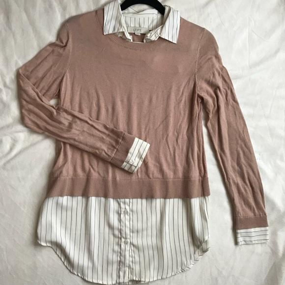 Loft Sweaters Sweater Blouse Combo Poshmark
